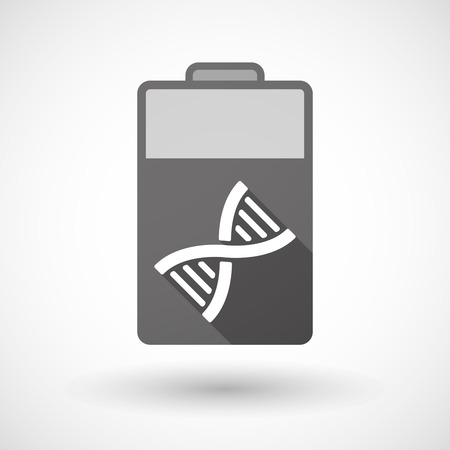 transgenic: Illustration of an isolated battery icon with a DNA sign