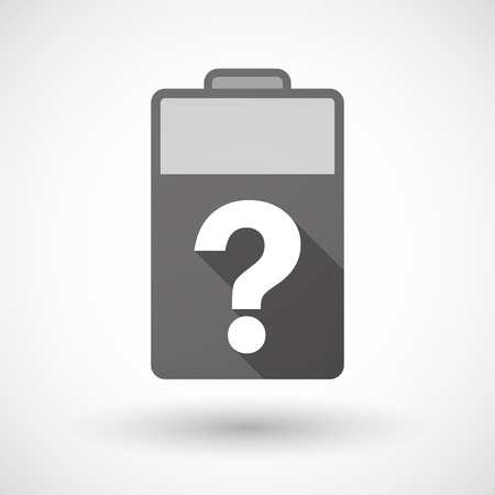 lithium: Illustration of an isolated battery icon with a question sign Illustration