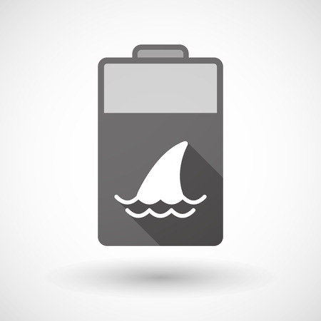 fin: Illustration of an isolated battery icon with a shark fin Illustration