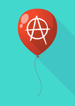 anarchy: Illustration of a long shadow balloon with an anarchy sign