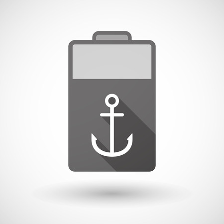 nautic: Illustration of an isolated battery icon with an anchor Illustration