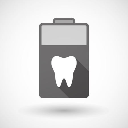lithium: Illustration of an isolated battery icon with a tooth