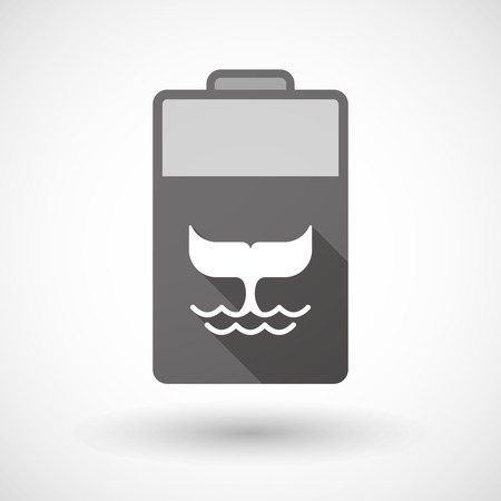 lithium: Illustration of an isolated battery icon with a whale  tail Illustration