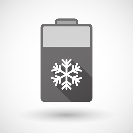 lithium: Illustration of an isolated battery icon with a snow flake Illustration
