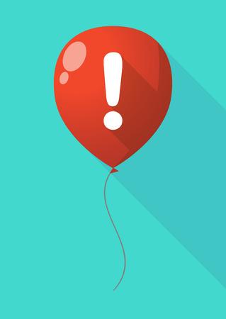 изумление: Иллюстрация длинные тени воздушный шар со знаком восхищения