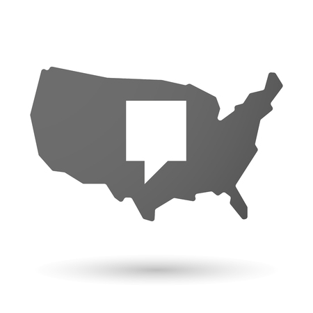 tip style design: Illustration of an isolated USA map icon with a tooltip