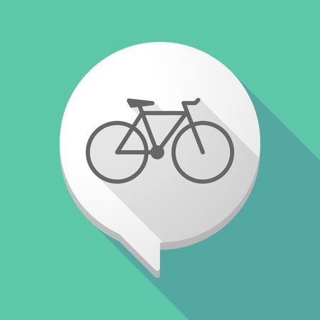 bicicleta: Ilustración de un globo de cómic larga sombra con una bicicleta Vectores