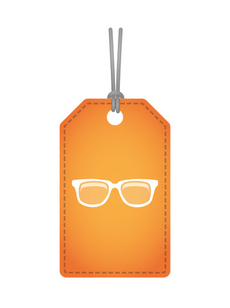 glasses: Illustration of an isolated label icon with a glasses