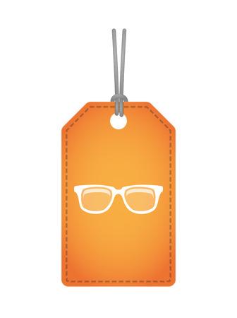 gafas: Ilustraci�n de un icono label con vidrios