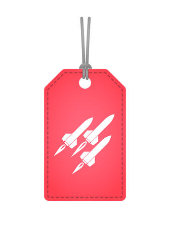 missiles: Illustration of an isolated label icon with missiles Illustration