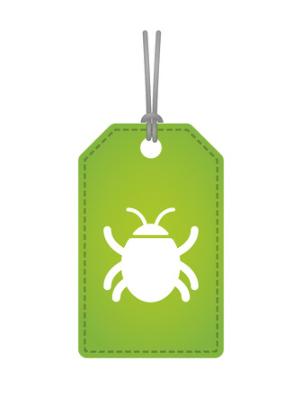 bugs shopping: Illustration of an isolated label icon with a bug