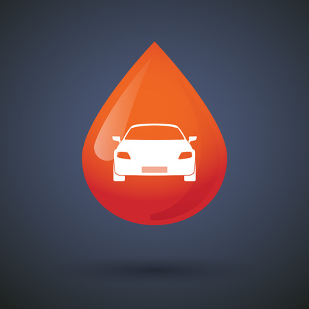 donation drive: Illustration of a blood drop icon with a car
