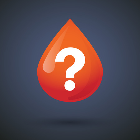 medical questions: Illustration of a blood drop icon with a question sign