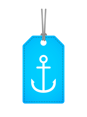 anchor: Illustration of an isolated label icon with an anchor