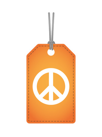 peace label: Illustration of an isolated label icon with a peace sign Illustration