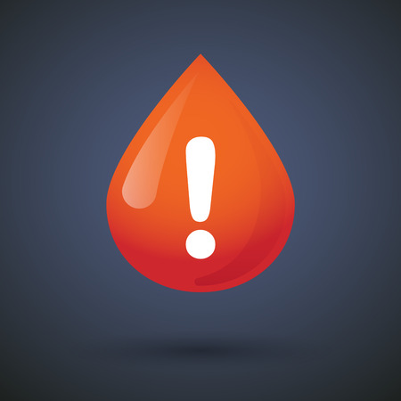 admiration: Illustration of a blood drop icon with an admiration sign