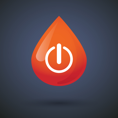 drop off: Illustration of a blood drop icon with an off button