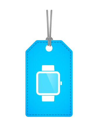 retail display: Illustration of an isolated label icon with a smart watch