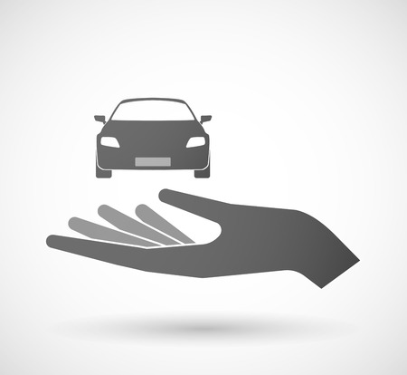 charity drive: Illustration of an isolated hand giving a car Illustration
