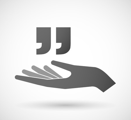 palm of hand: Illustration of an isolated hand giving  quotes