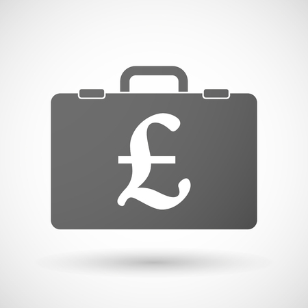 pound sign: Illustration of an isolated briefcase icon with a pound sign