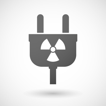 reactor: Illustration of an isolated plug icon with a radio activity sign