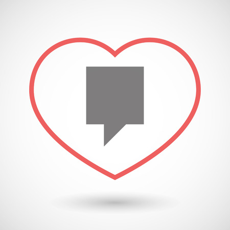 tooltip: Illustration of a line heart icon with a tooltip