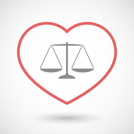 판사의 체중 규모 기호 라인 난로 아이콘의 그림