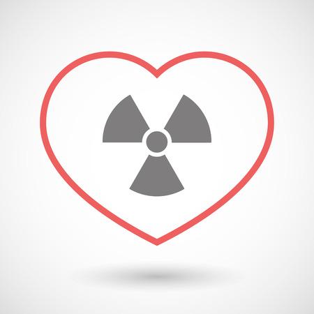 radio activity: Illustration of a line heart icon with a radio activity sign Illustration
