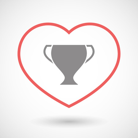 winning proposal: Illustration of a line hearth icon with a cup Illustration