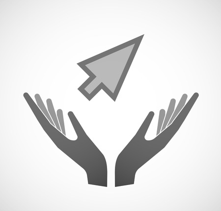 sustain: Illustration of two hands offering a cursor