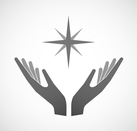 sustain: Illustration of two hands offering a sparkle
