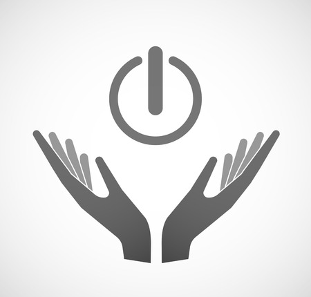 hands off: Illustration of two hands offering an off button