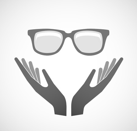 keep an eye on: Illustration of two hands offering a glasses