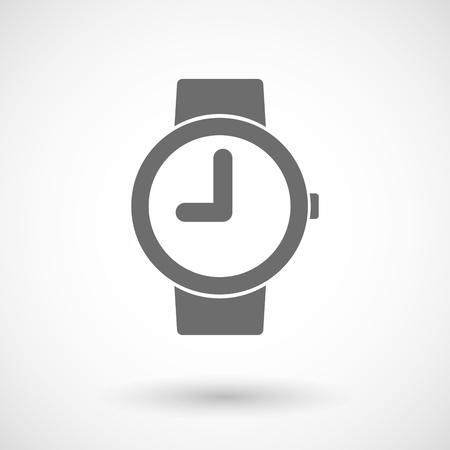 punctuality: Ilustraci�n vectorial aislado de un reloj de pulsera Vectores