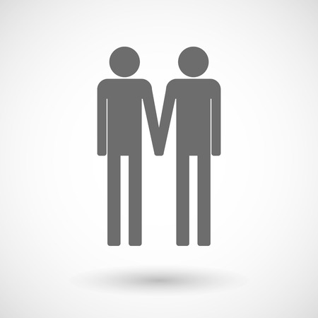 gay couple: Isolated vector illustration of a gay couple pictogram Illustration