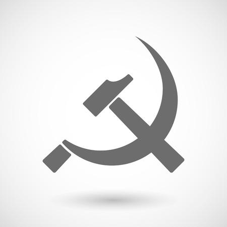 Isolated vector illustration of  the communist symbol Illustration