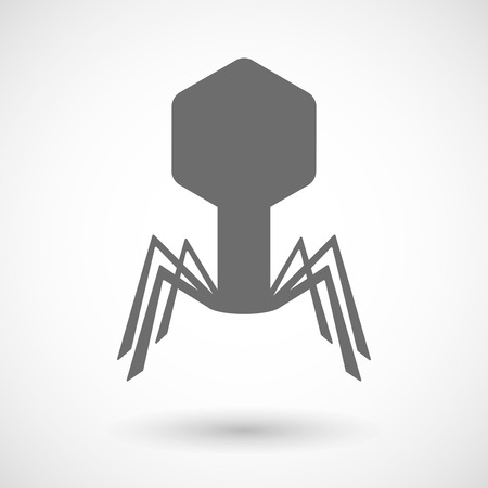viral disease: Isolated vector illustration of a virus