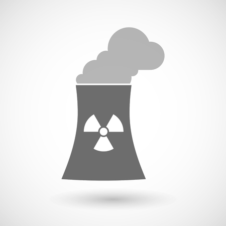 cooling tower: Isolated vector illustration of a nuclear power station Illustration