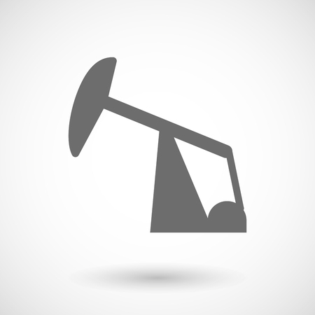horsehead pump: Isolated vector illustration of a horsehead pump Illustration