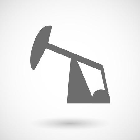 nodding: Isolated vector illustration of a horsehead pump Illustration
