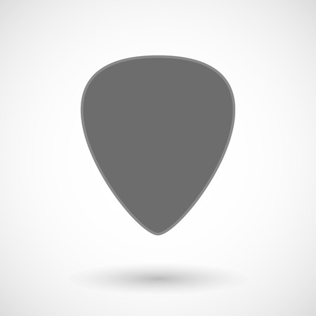 plectrum: Isolated vector illustration of a plectrum Illustration