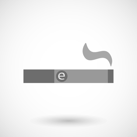 vaporizer: Isolated vector illustration of an electronic cigarette