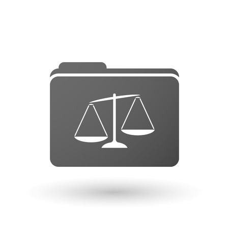 tribunal: Illustration of an isolated binder with  an unbalanced weight scale Illustration