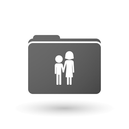 orphan: Illustration of an isolated binder with a childhood pictogram