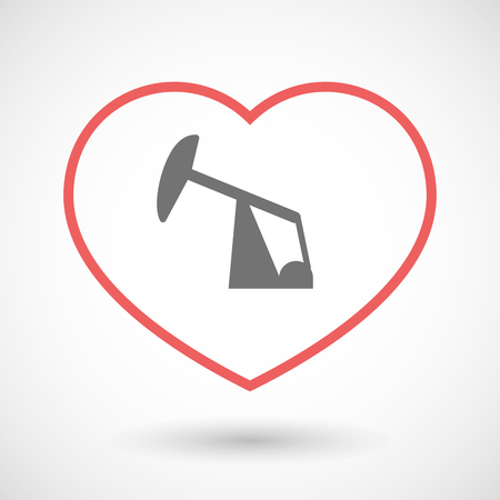 horsehead pump: Illustration of a line hearth icon with a horsehead pump