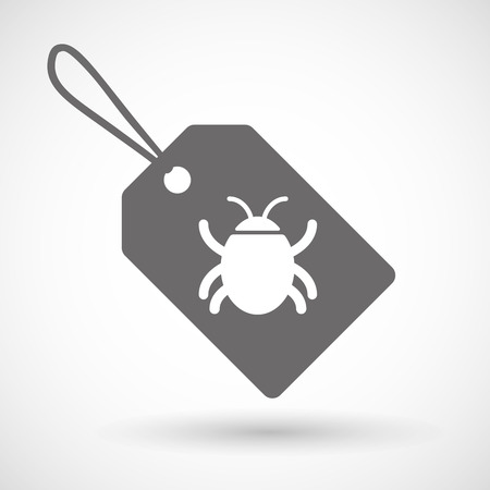 bugs shopping: Illustration of a shopping label icon with a bug Illustration