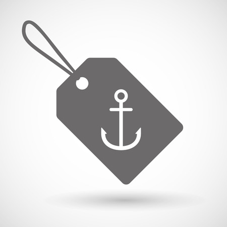 nautic: Illustration of a shopping label icon with an anchor Illustration