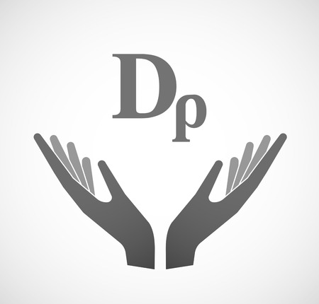 sustain: Illustration of two hands offering a drachma currency sign Illustration