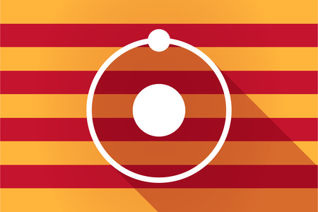 catalonia: Illustration of a long shadow Catalonia vector flag with an atom Illustration